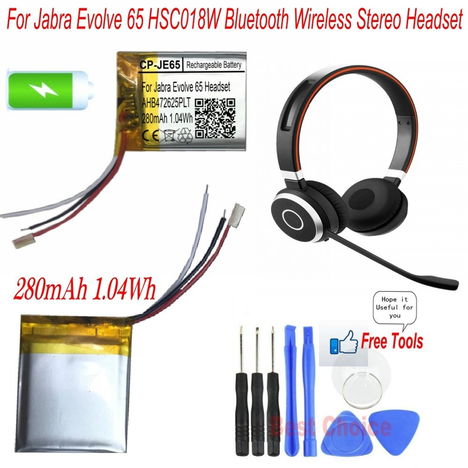 280mah 1 04wh Rechargeable Battery For Jabra Evolve 65 Hsc018w Bluetooth Wireless Headset Replacement Ahb472625plt Battery Replacement Batteries Aliexpress