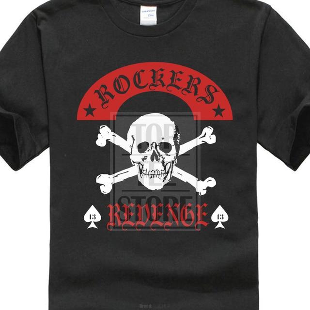 1247622ae 100% cotton Casual Rockers Revenge T Shirt Rock'N'Roll Rockabilly Skull-All  3D Print Men's T Shirts 100% Cotton Short Sleeve