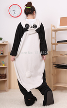 Free Shipping Adult Animal Romper Unisex Flannel Jumpsuit Onsie Fancy Dress Costume panda Animal Onesie Pajamas size s-xl