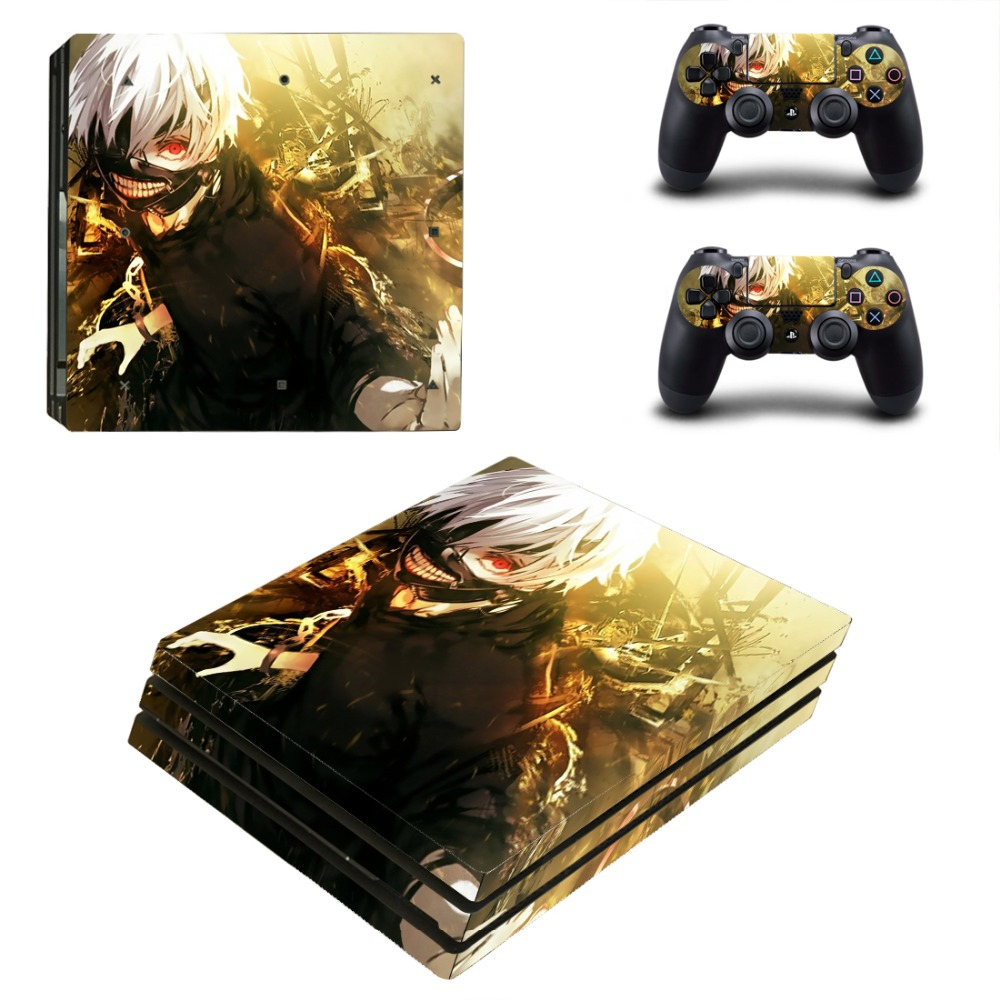 PS4 PRO Tokyo ghouls for Playstation 4 PRO Console Skin Decal Sticker + 2 Controller Skins Set (Pro Only)