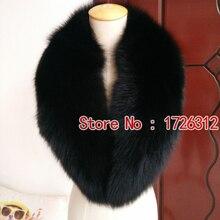 Натуральный мех лисий мех воротника генеральной шаль воротник пальто sub меховой воротник мех мыс глушитель шарф