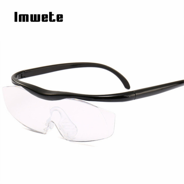 Imwete Fashion Glasses Big Vision 1.8 times Reading Glasses Magnifying Presbyopic Glasses Magnifies Presbyopia Eyewear +300