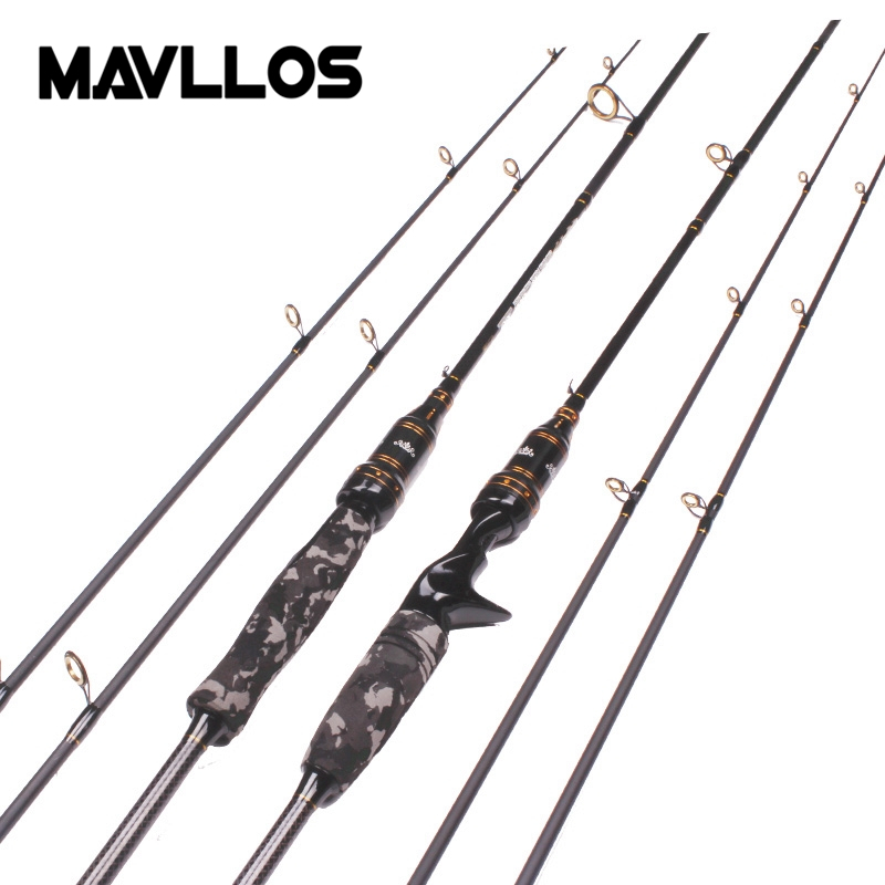 Mavllos Newest M/MH 2 Tips Camouflage Casting Spinning Fishing Rod 1.8M 2 Section Fast Action Carbon Fiber Casting Spinning Rod