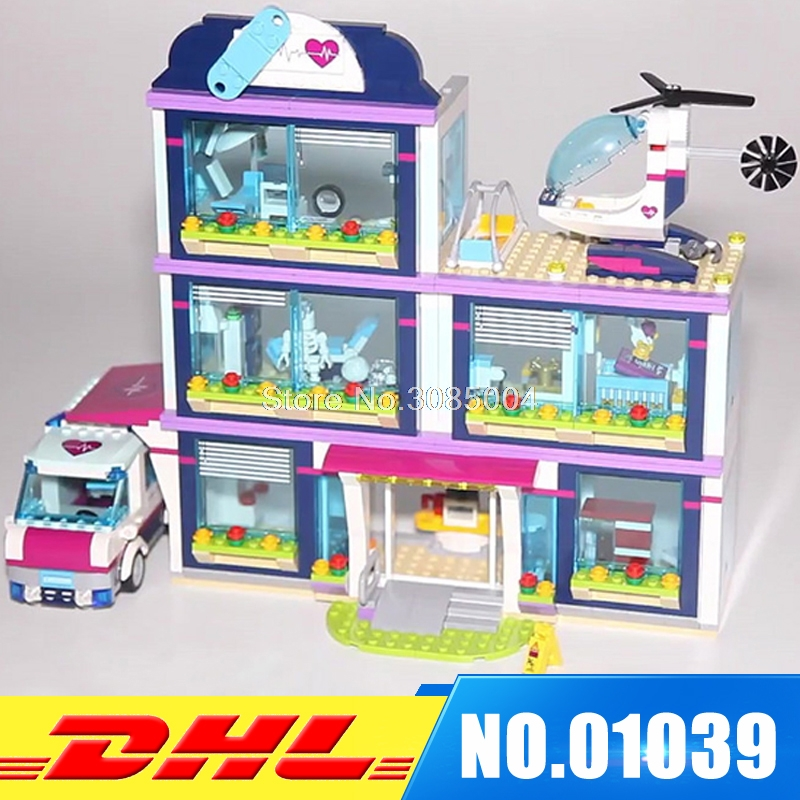 Lepin 01039 932pcs Heartlake City Park Love Hospital Girl Friends Building Block Brick Toy Children Gifts Compatible 41318 new 7033 friends series the city park cafe pirate ship model building block classic girl toys compatible with lepin