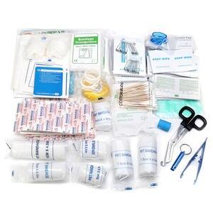 Image 4 - 300 pcs 긴급 생존 키트 의료 용품 상처 가방 치료 팩 홈 오피스 캠핑에 대 한 응급 처치 키트 세트