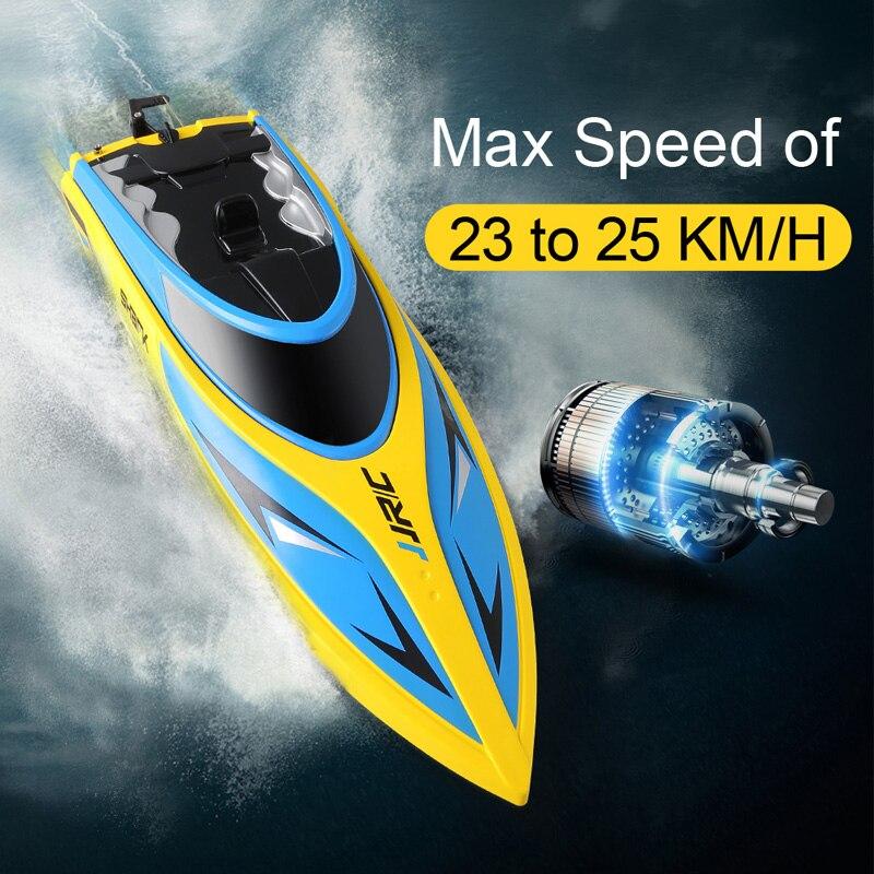 JJRC S1 S2 S3 haute vitesse RC bateau auto-redressement hors-bord Portable télécommande bateau 25 Km/h jouets pour enfants refroidissement à l'eau chaude