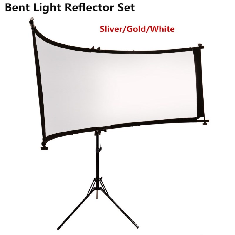 GSKAIWEN Bent U-typed Light Reflector/Diffuser Set With Tripod Eyelighter For Photography Video Studio Shot(Silver/ Gold/White)
