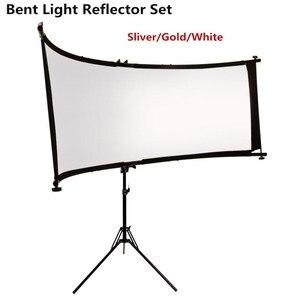 Image 1 - GSKAIWEN wygięty odbłyśnik/dyfuzor w kształcie litery U ze statywem Eyelighter na fotografia wideo Studio Shot (srebrny/złoty/biały)