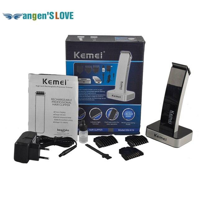 KEIMEI KM-619 Аккумуляторная Волос Cipper Электрический Станок для бритья Бритва Парикмахерская Резки Триммер для Бороды Стрижка Комплект Cordless