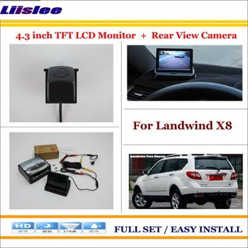 """Liislee For Landwind X8 Auto Back UP Reverse Camera + 4.3"""" Color LCD Monitor = 2 in 1 Rearview Parking System"""
