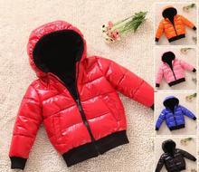 Детские хлопок 0-1-2-3-4-5 летний мальчик Девочек толстые зимняя куртка зимняя дети детская одежда мальчик пальто