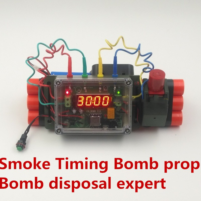 NEW Escape Room Jedi Survival Emit Smoke Water Bomb Expert Props For C4 Timing Bomb Disassembly Remove Stitches Bomb Disposal