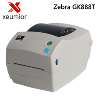 Zebra Printer Gk888T Thermal Transfer Barcode Label Machine Support 1D 2D Barcode Printing Clothing Tag Jewelry