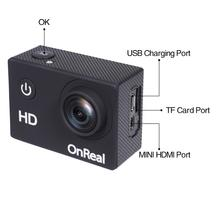 30M waterproof diving 2019 new 1080P action cam OnReal X2Hlite 170 degree wide angle 2.0 IPS screen sport