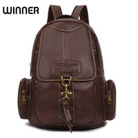 Preppy Woman Backpack Laies Retro Backpacks Leather College Student Book Bag Rucksack