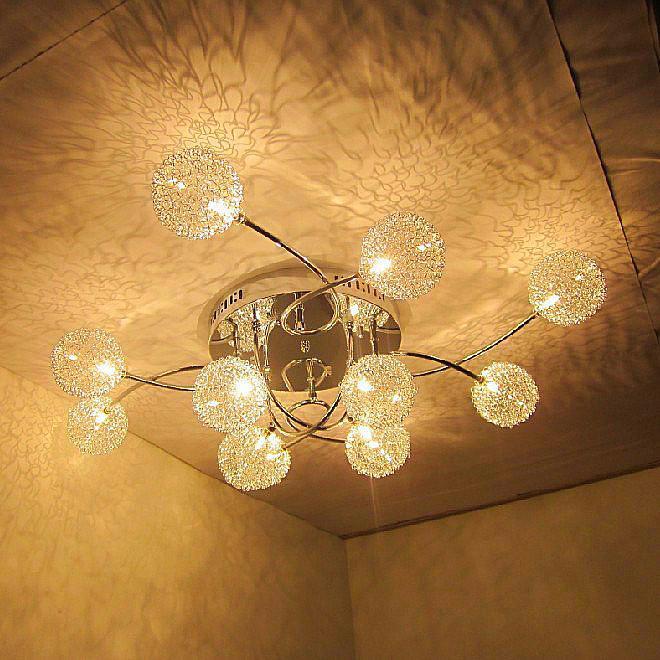 Ժամանակակից ալյումինե մետաղալար Crystal - Ներքին լուսավորություն - Լուսանկար 4