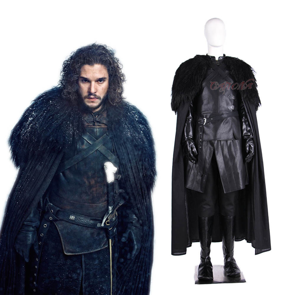 Cafiona New Movie Game Of Thrones Jon Snow Cosplay Costume Cool Man Outfits Winter