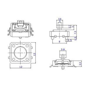 Image 3 - Botón de interruptor Micro táctil, 12x12x7,3 MM, 5 colores, botón pulsador, momentáneo, 25 unidades