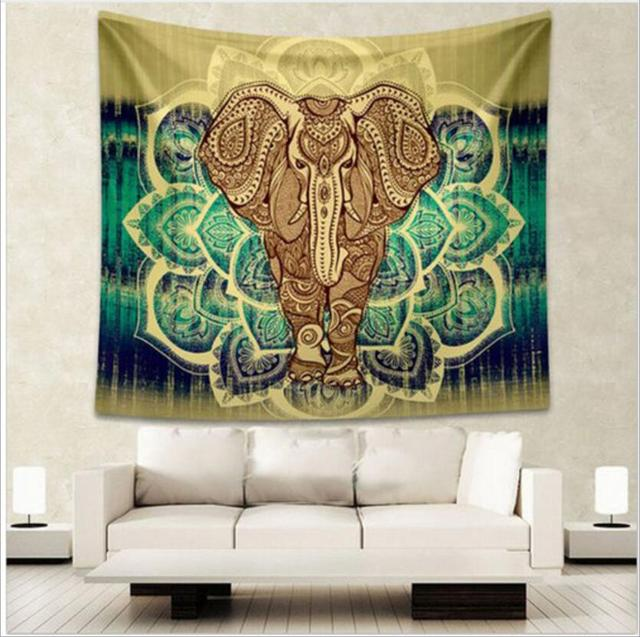 Indian Elephant Printed Tapestry 3