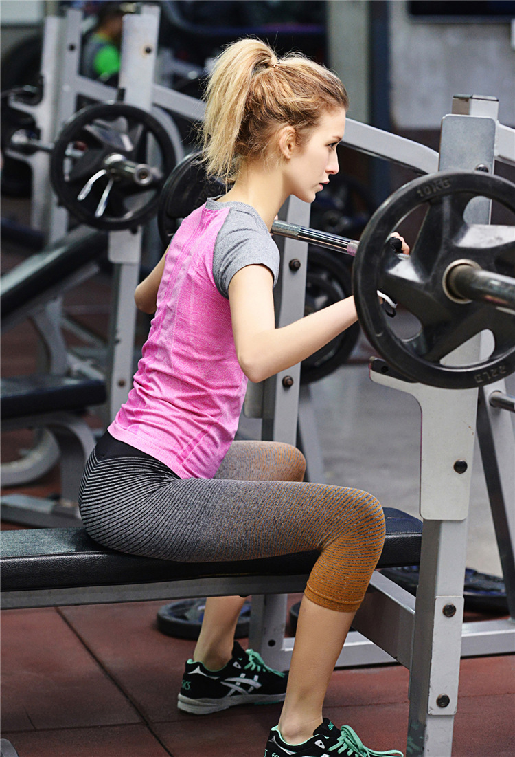 Women Sport Yoga Cotton Pants Elastic Compression Tights font b Fitness b font Running Trousers Gym