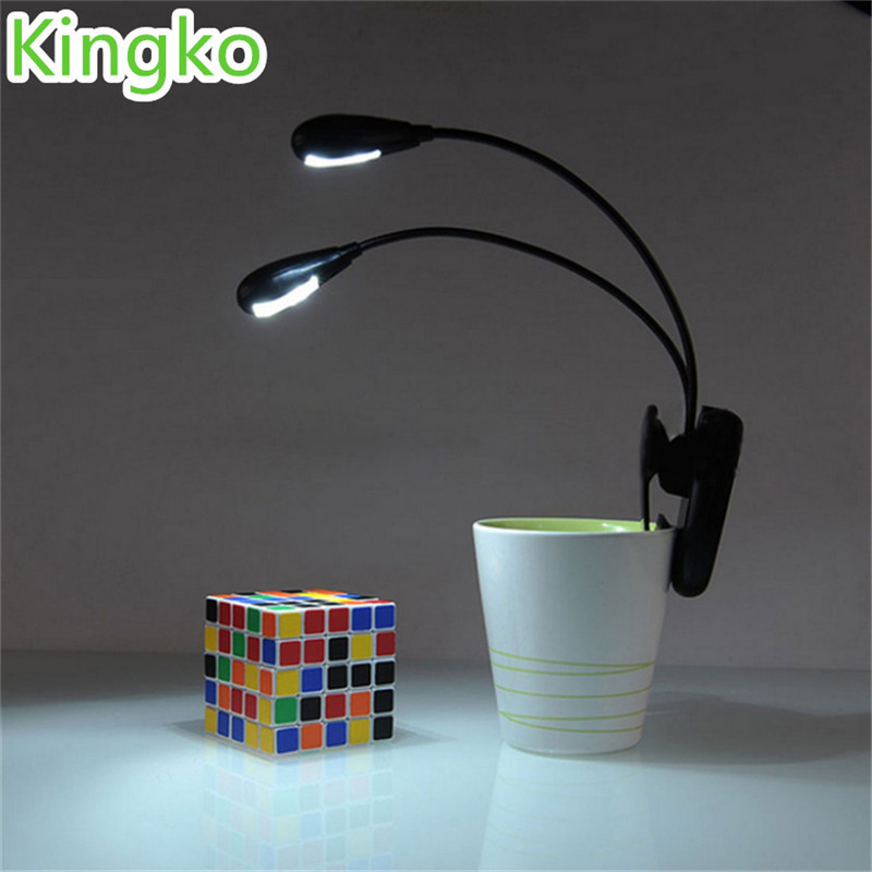 Adjustable Goosenecks Clip on LED Lamp for Music Stand and Book Reading Light Du ...