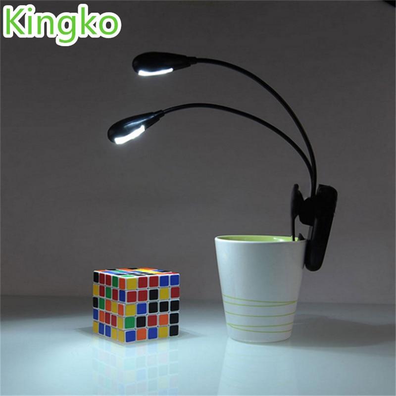 Adjustable Goosenecks Clip on LED Lamp for Music Stand and Book Reading Light Du ...