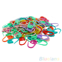 100PC Knitting Mix color Craft Crochet Locking Stitch Needle Clip Markers Holder