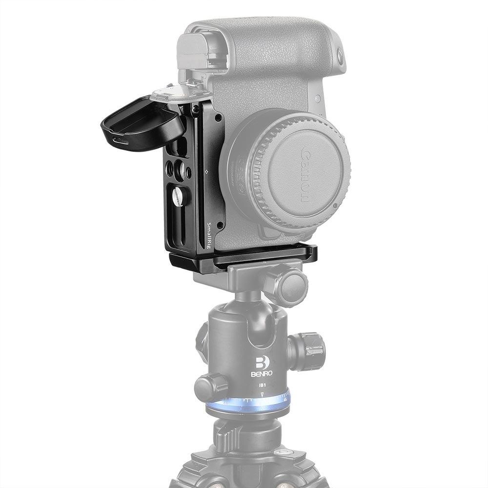 Petite plaque de support en L pour appareil photo Canon EOS R à dégagement rapide arca-swiss Standard plaque de montage en L plaque latérale et plaque de base-2257 - 6