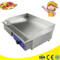 Brand New 220V 110V 3000W Stainless Steel Flat Grooved Kitchen Appliance Electric Griddles Fried Pans