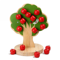 Kids Montessori Counting Arithmetic Toys Toys Wood Apple Tree Number of apples Educational Toys Math Toys P15