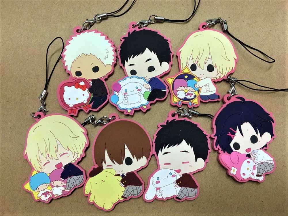 2018 New arrival 6 PÇS/LOTE Sanrio Meninos/Sanrio Danshi Aleatória enviar Japonês anime figura de borracha encantos do telefone móvel/keychain