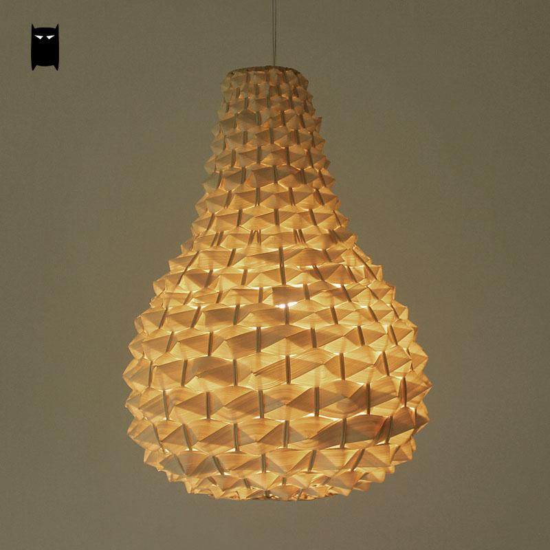 цена на Bamboo Wicker Rattan Pineapple Pendant Light Fixture Country Rustic Hanging Lamp Avize Luminaria Dining Table Room Restaurant