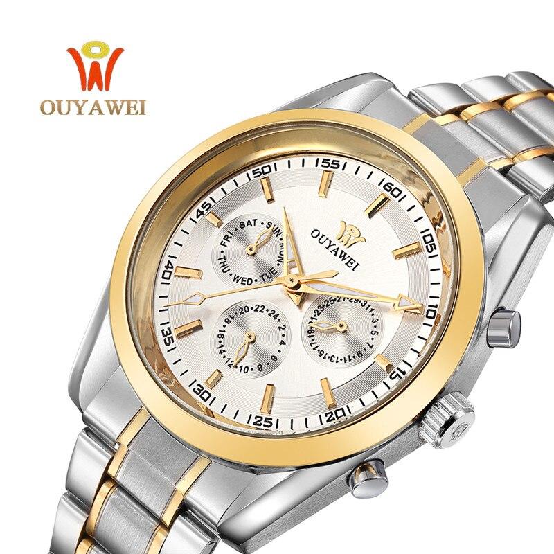 OUYAWEI tourbillon Watch Luxury Automatic font b Mechanical b font Watch font b Men s b