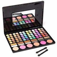 Popfeel 78 Colors Eyeshadow Lip Gloss Concealers Eye Shadow Lipsticks Palette Beauty Cosmetic Makeup Tools With