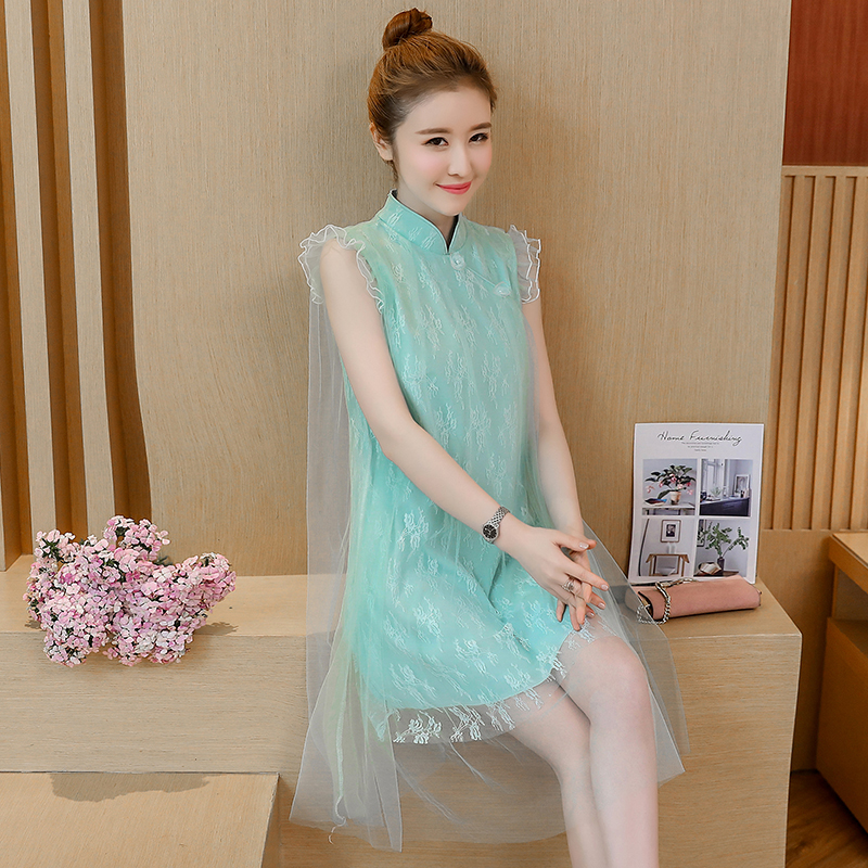 2020 Female Flower Wedding Dress Classic Women Lace Qipao Traditional Mandarin Collar Party Gowns Elegant Cheongsam Vestidos