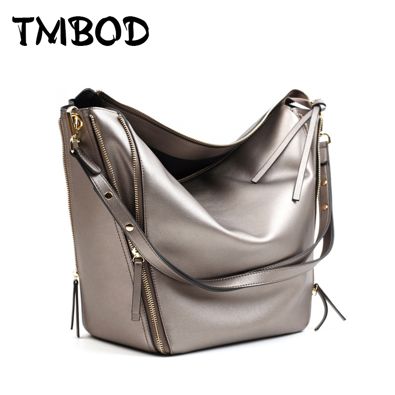 New 2017 Casual Classic Tote Patchwork Bucket Simple Women Cowhide Split Leather Handbags For Female Shoulder Bags an480