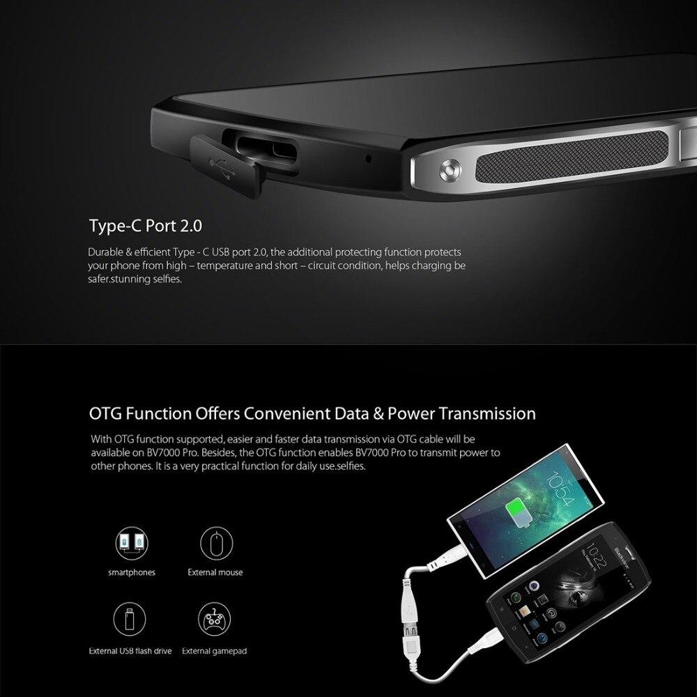 Blackview BV7000 Pro 4G Smartphone 64GB ROM 4GB RAM 3500mAh 5.0 inch Gorilla Glass 3 Android 6.0 MTK6750T Octa core 1.3GHz OTG