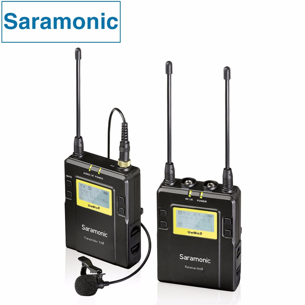 Saramonic Professional Broadcast Interview UHF Wireless Lavalier Microphone System for Canon Nikon Sony DSLR Camera & Camcorder boya uhf wireless lavalier microphone recorder system for video interview broadcast mic canon nikon dslr camera sony camcorder