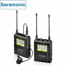 Saramonic Professional Broadcast Interview UHF Wireless Lavalier Microphone System for Canon Nikon Sony DSLR Camera & Camcorder