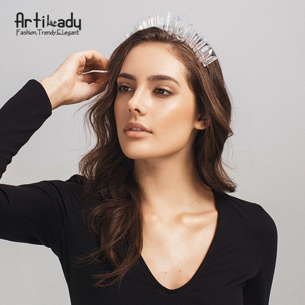 Artilady cristal diademas corona hecha a mano diadema diademas Ángel corona de pelo de la joyería para las mujeres dropshipping. exclusivo.
