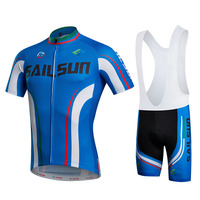 HOT SAIL SUN Blue Men Bike Jersey Or Cycling Bib Shorts Pro MTB Clothing Summer Male