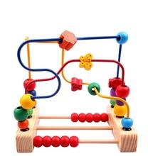 Pertama Manik Labirin Kayu Manipulatif Mainan untuk Balita Manik-manik Kayu Klasik Maze Anak Pendidikan Mainan Labirin Puzzle Xmas Hadiah *