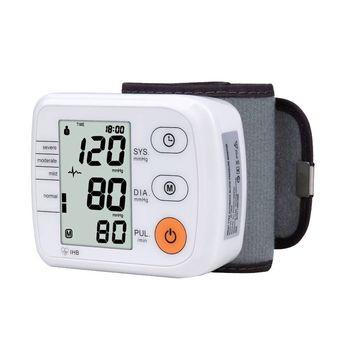 Digital de Pulso Monitor de Pressão Sanguínea do Braço Superior Totalmente automático de Pulso Monitor Metros de cuidados de Saúde Esfigmomanômetro