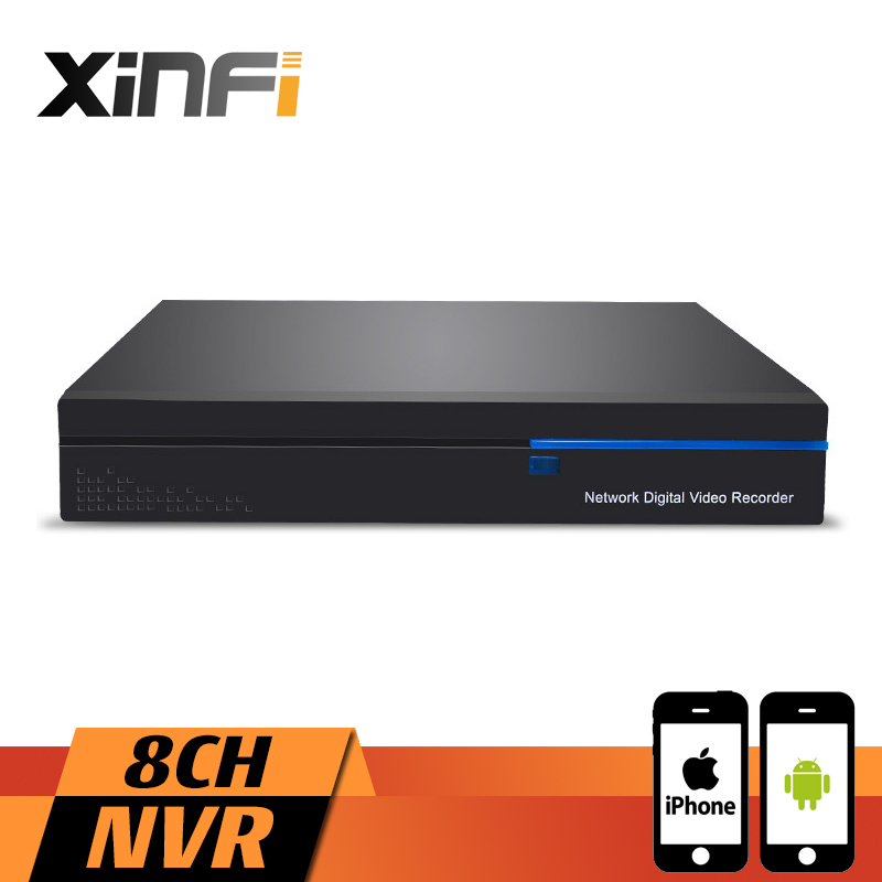 XINFI 8CH 1080P HDMI NVR 8 Channel Security CCTV Recorder Camera System 1080P Recorder ONVIF 2.0 For IP network Camera System xinfi 4ch 1080p hdmi nvr 4 channel security cctv recorder 1080p 960p 720p onvif 2 0 for ip camera system 1080p recorder