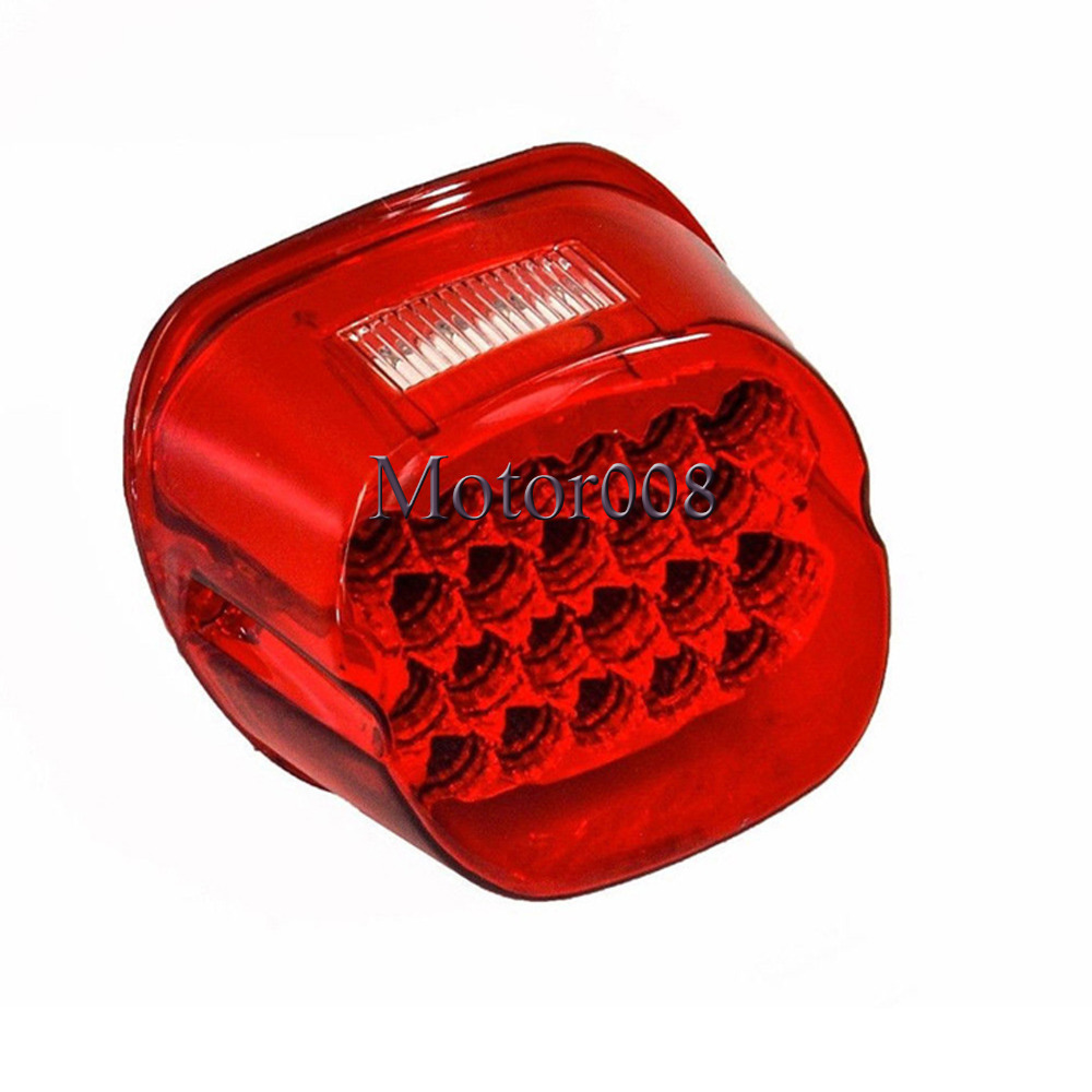 LED Red Smoke Tail Brake Stop Light Motorcycle For Harley Dyan Softail Sportster XL FLH FX  FLSTF FLSTSB