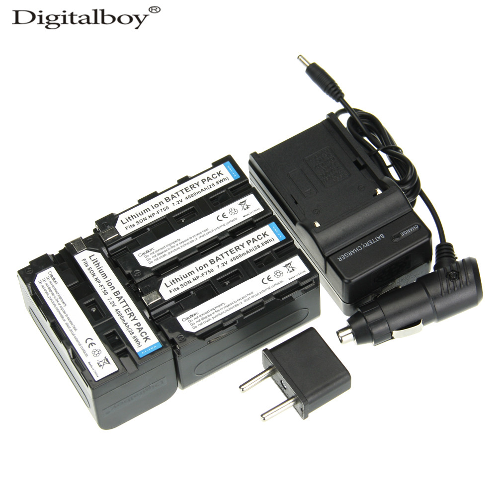 ФОТО DigitalBoy 6PCS/Set NP F750 NP-F750 NP-F770 NPF750 Camera Battery+Charger+Car Charger For Sony F550 F570  DCR-TR8100 CCD-TRV26E