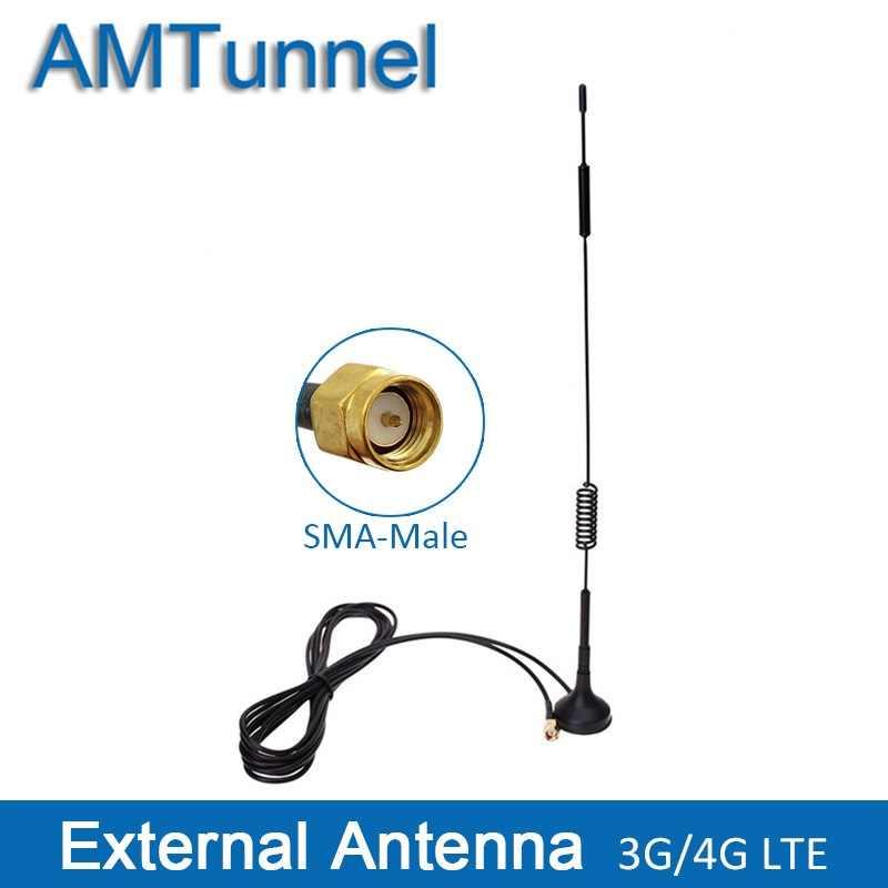4 جرام هوائي SMA هوائي 3 جرام WCDMA هوائي LTE هوائي 12dBi 700-2700 ميجا هرتز لهواوي 4 جرام راوتر موزع إنترنت واي فاي ومودم