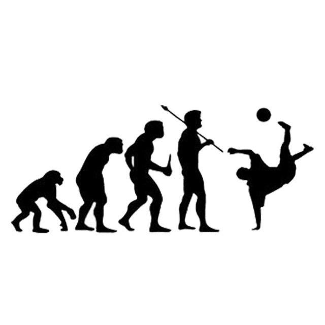 14.8 cm   6.2 cm Moda Evolução S2-0204 Pontapé De Futebol Vinil Adesivos de b992f4aab5b89