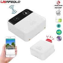 USAFEQLO 720P HD беспроводной wifi дверной звонок батарея дверная камера двухсторонний аудио домофон IP дверной звонок Домашняя безопасность приложение управление