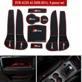 9 Pcs/Set Car Stickers Styling Gate Slot Pad Interior Door Groove Mat Latex Anti-Slip Cushion For audi A5 2009-2014 Q7 2007-2015